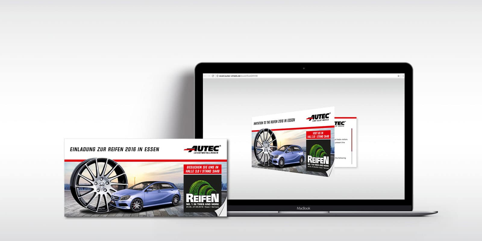 autec – ecard einladung - werbeagentur fact – automotive advertising, Einladungen