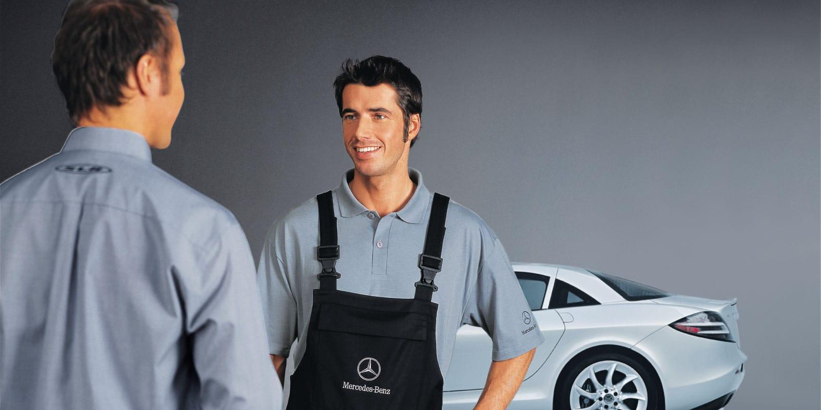 Mercedes-Benz – Broschüre Arbeitskleidung SLR