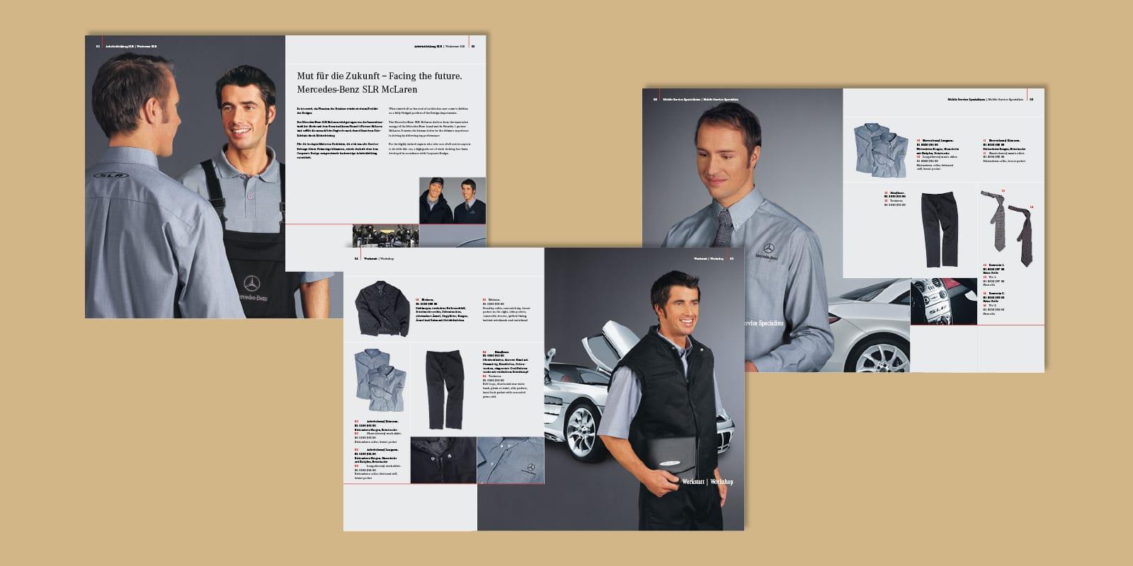 Mercedes-Benz – Broschüre Arbeitskleidung