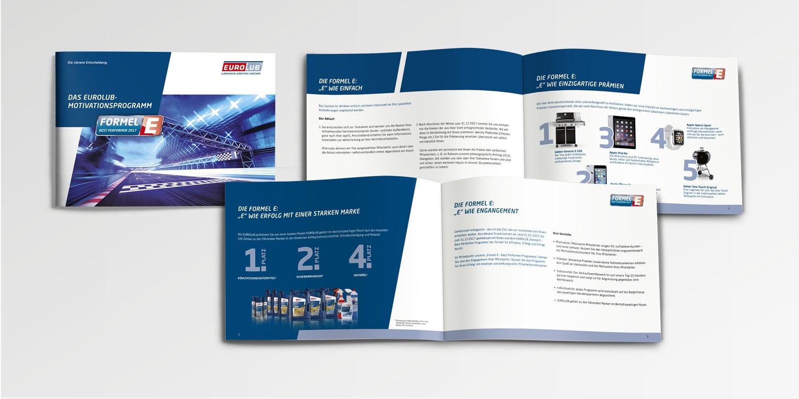 Eurolub – Salesfolder Händlermotivationsprogramm