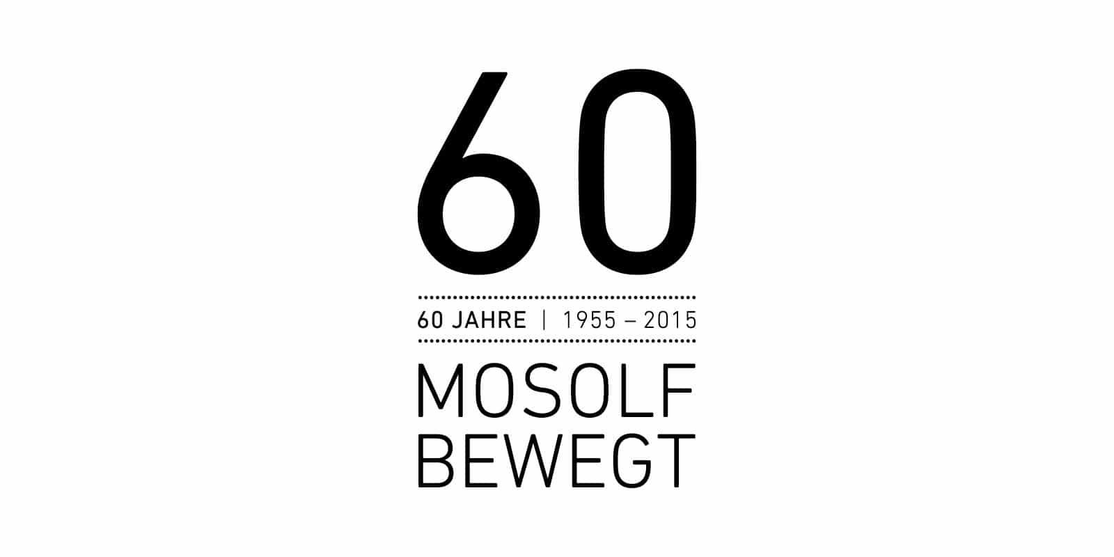 MOSOLF – Logo Jubiläum 60 Jahre