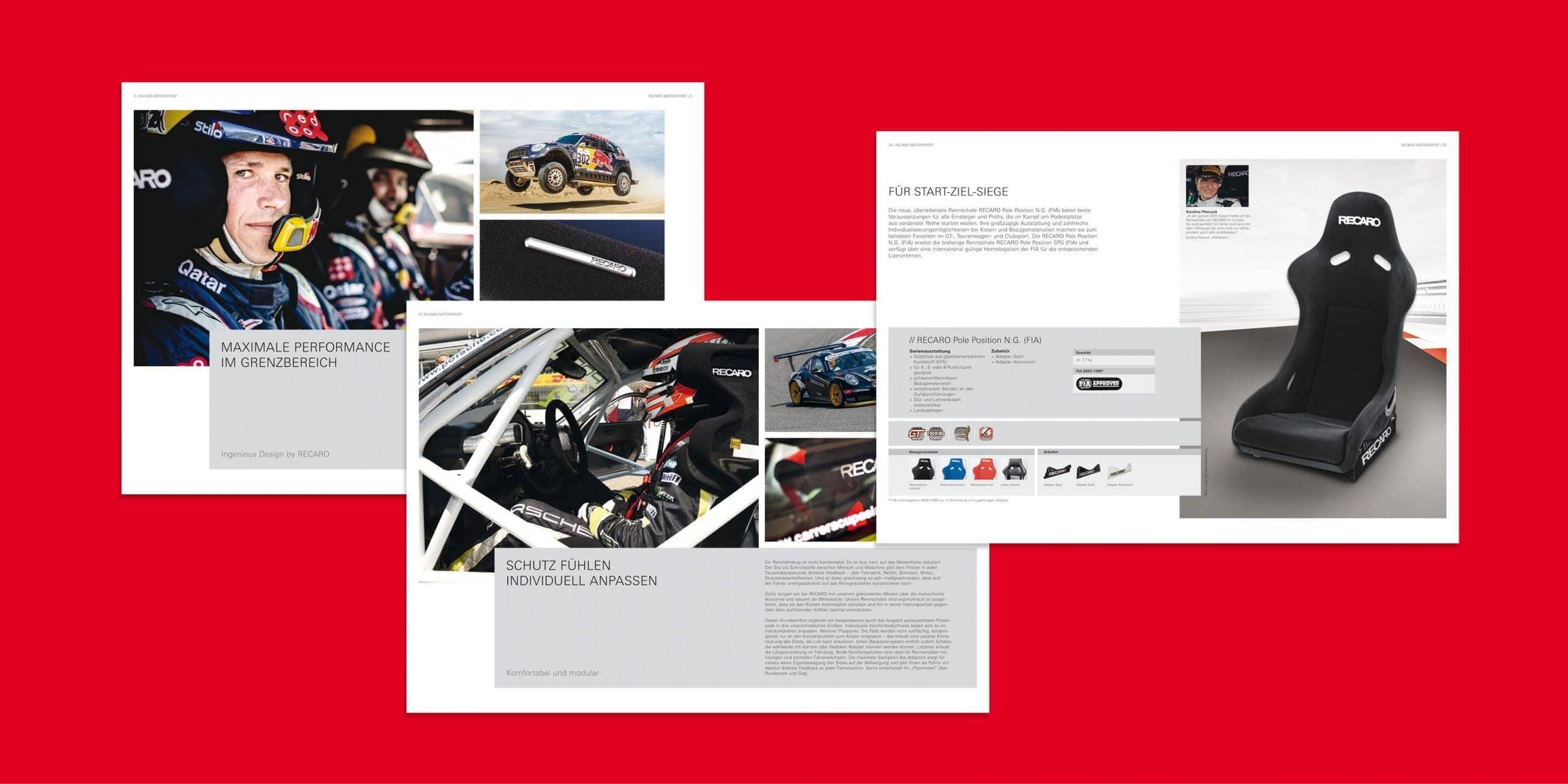 RECARO – Broschüre Motorsport