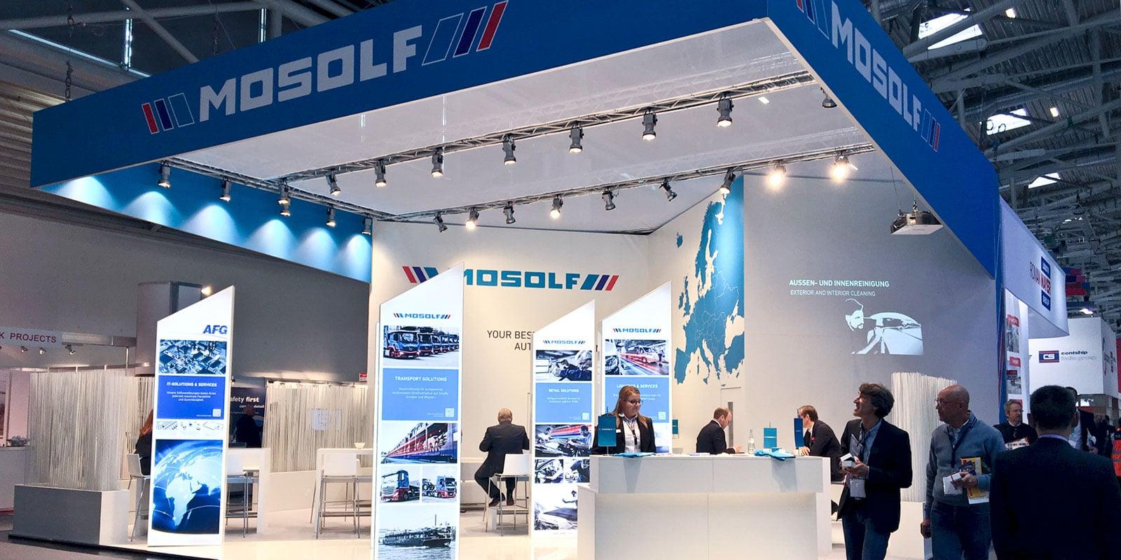 """FACT News – Mosolf Messestand """"Transport & Logistik"""""""