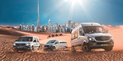 Mercedes Benz Vans – Key-Visual VIP-Event Dubai