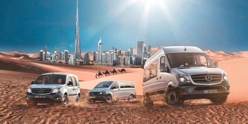 Mercedes Benz Vans – Key-Visual VIP-Event Dubai