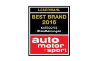 Eberspächer Best Brand 2016 – Standheizungen