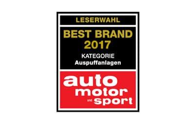 Eberspächer Best Brand 2016 – Auspuffanlagen