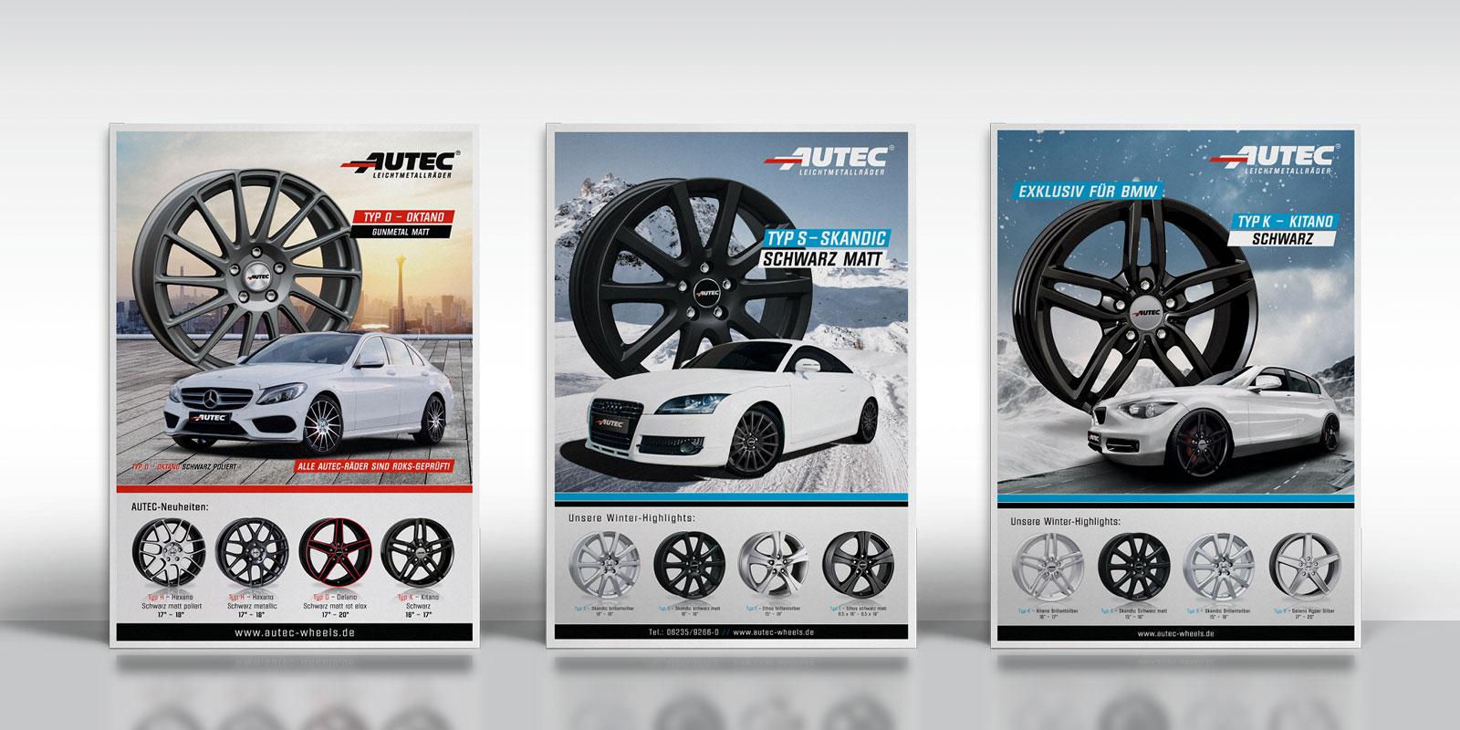 Autec – Anzeigen