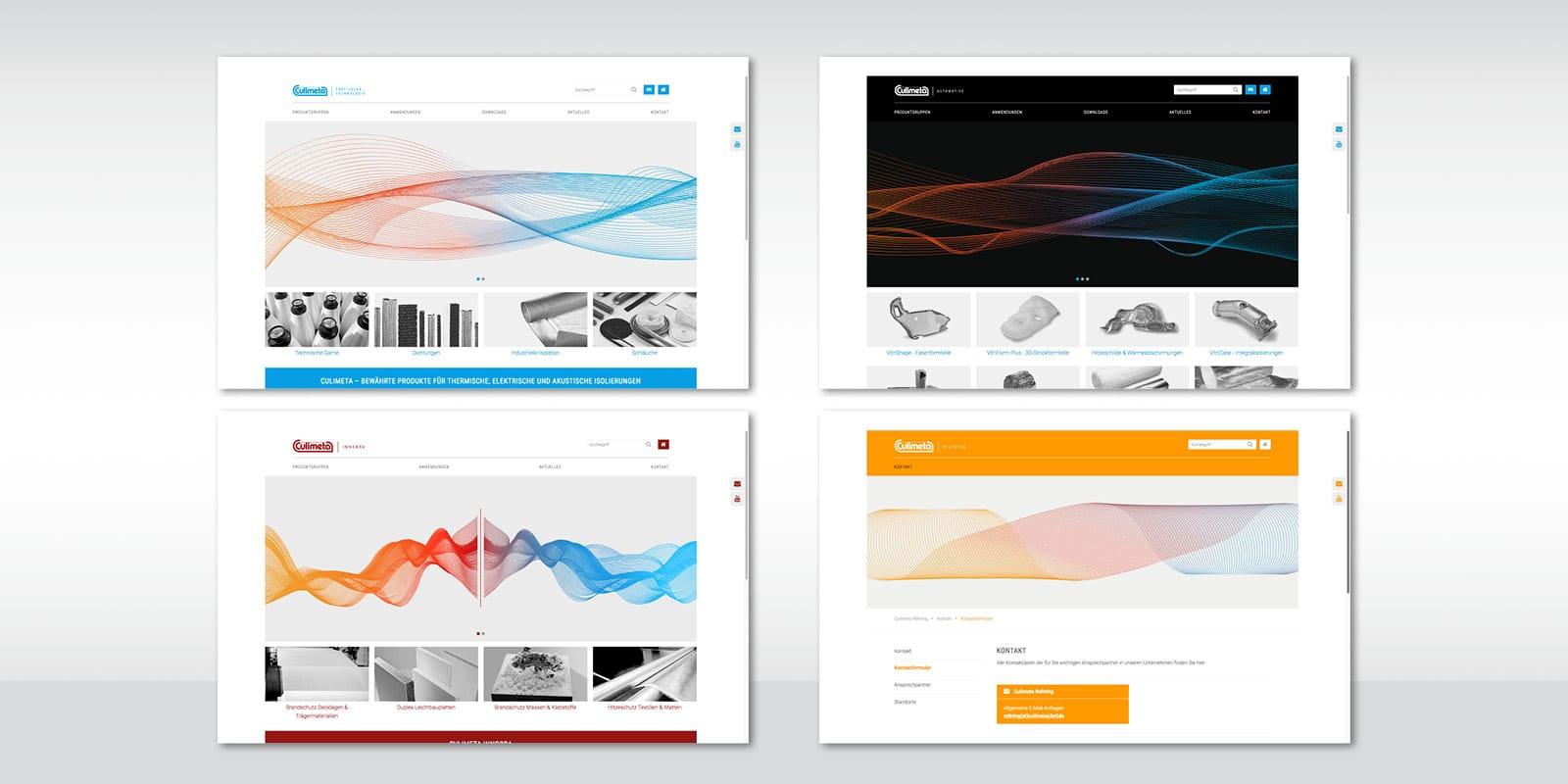 Culimeta – Unternehmensbereiche Startseiten