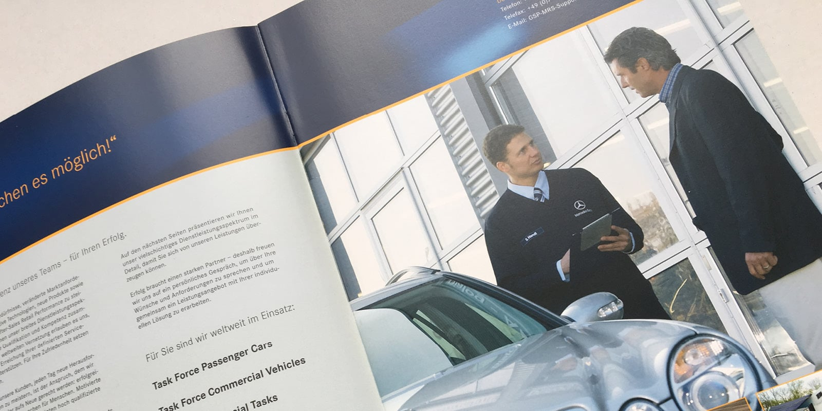 Daimler – Broschüre After Sales Network Support