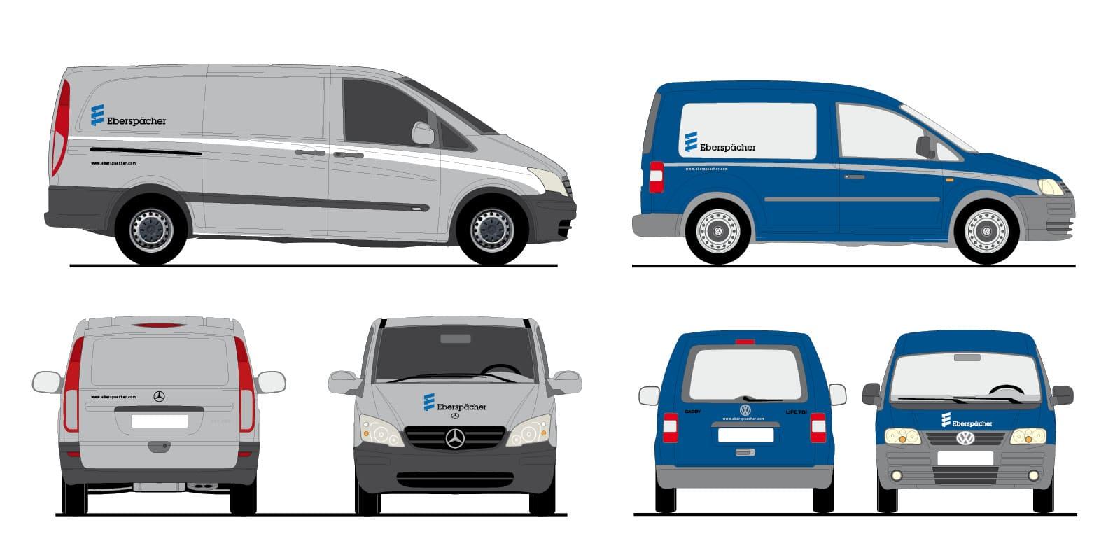 Eberspächer – Fahrzeugbeschriftung