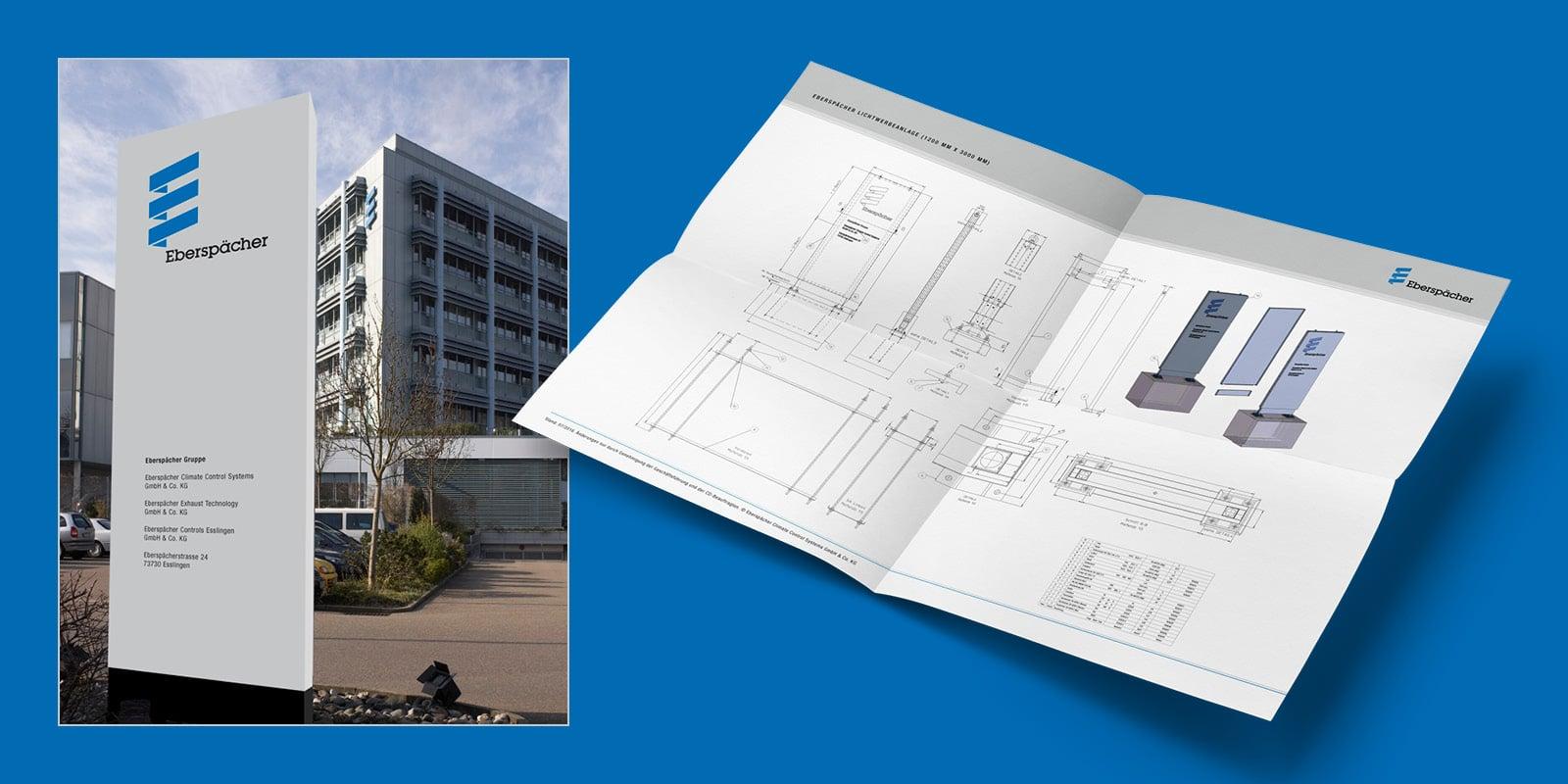 Eberspächer – Gebäudebeschriftung