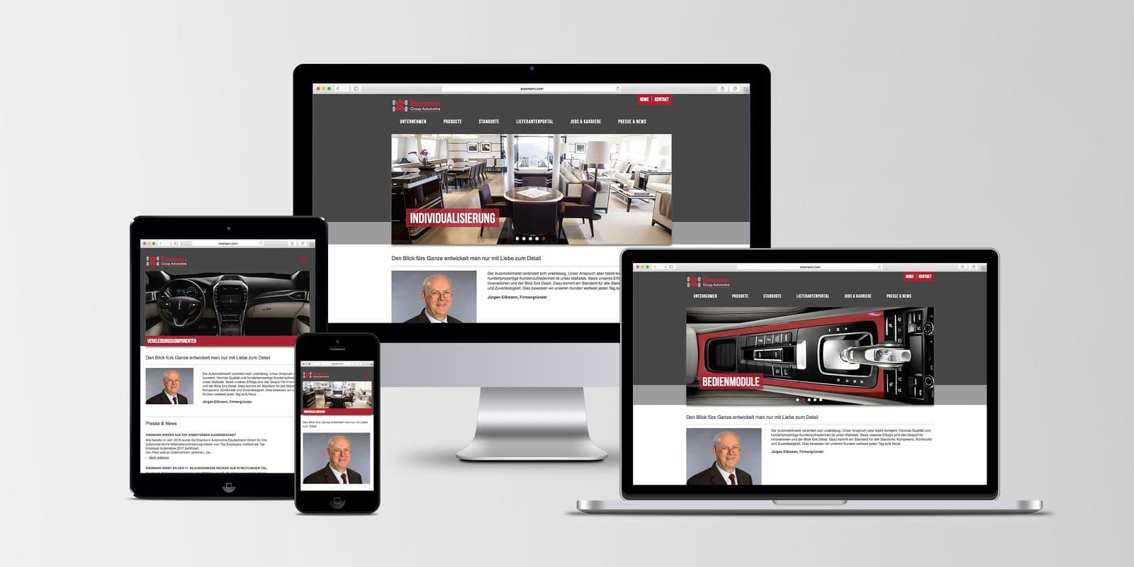 Eissmann – Corporate Website responsive