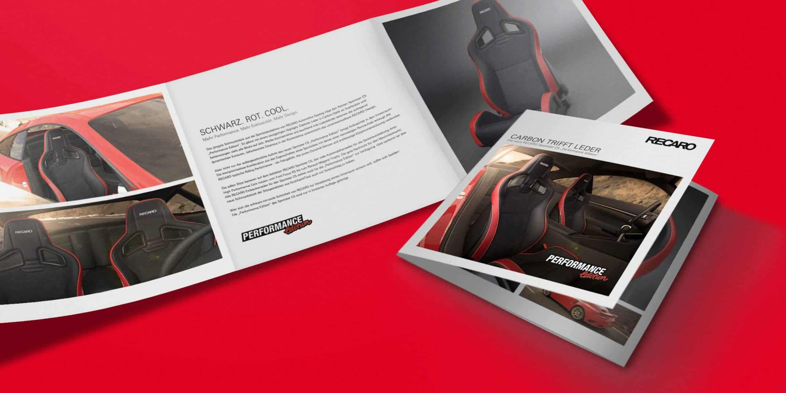 "RECARO – Flyer ""Performance Edition"""