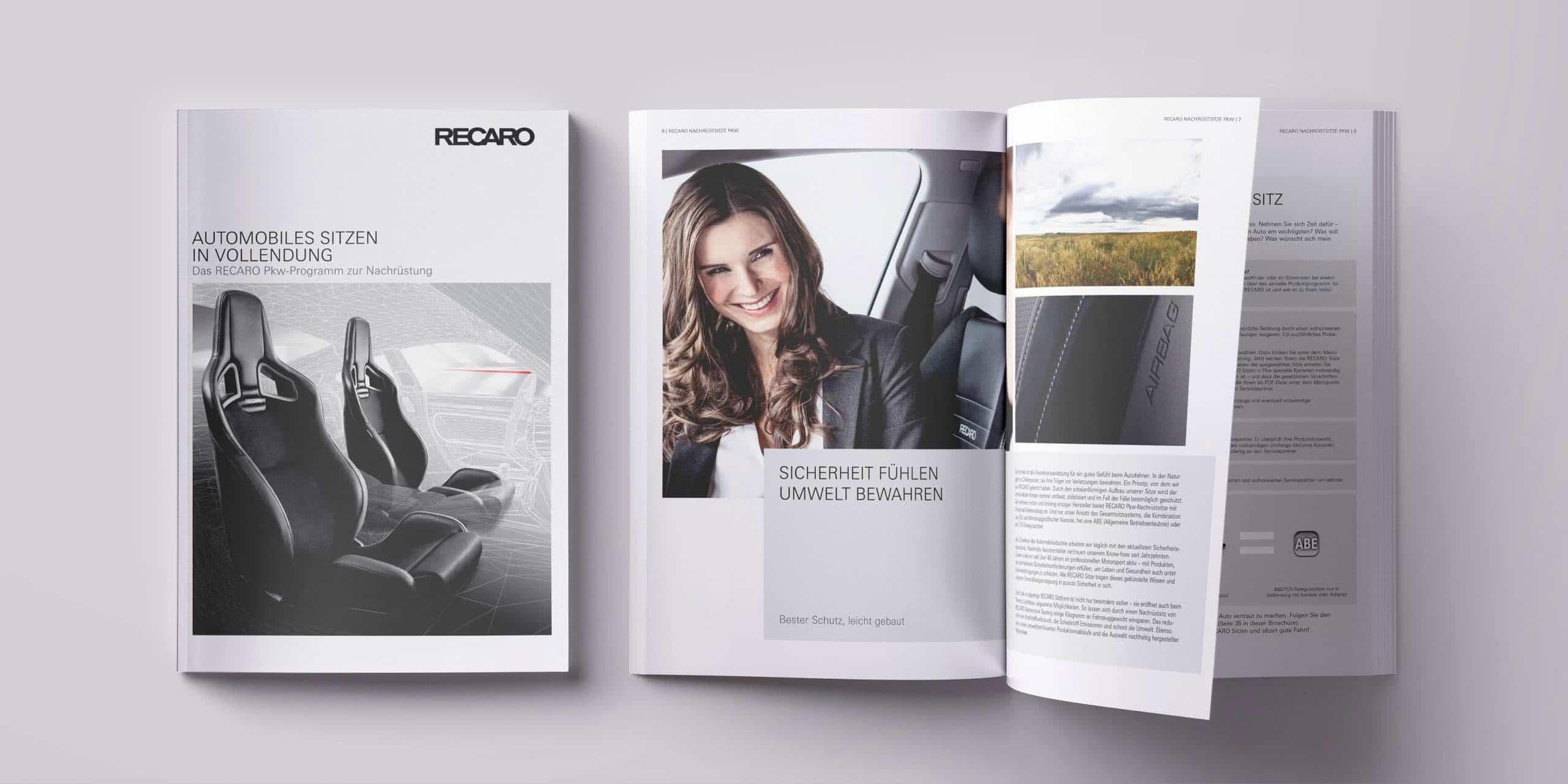 RECARO – Broschüre Nachrüstsitze