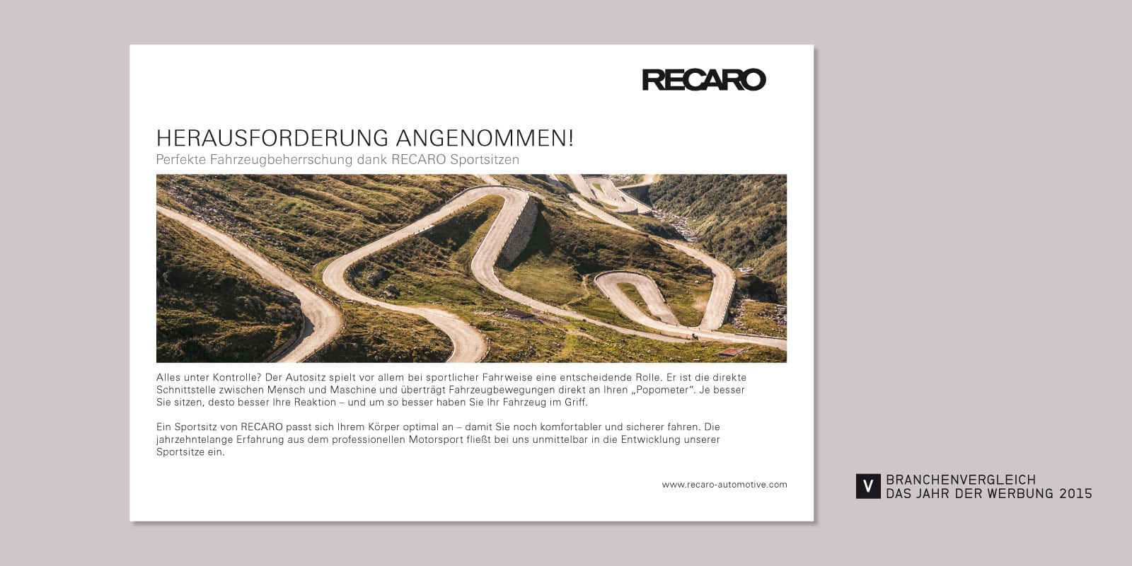 RECARO – Anzeige: Herausforderung angenommen