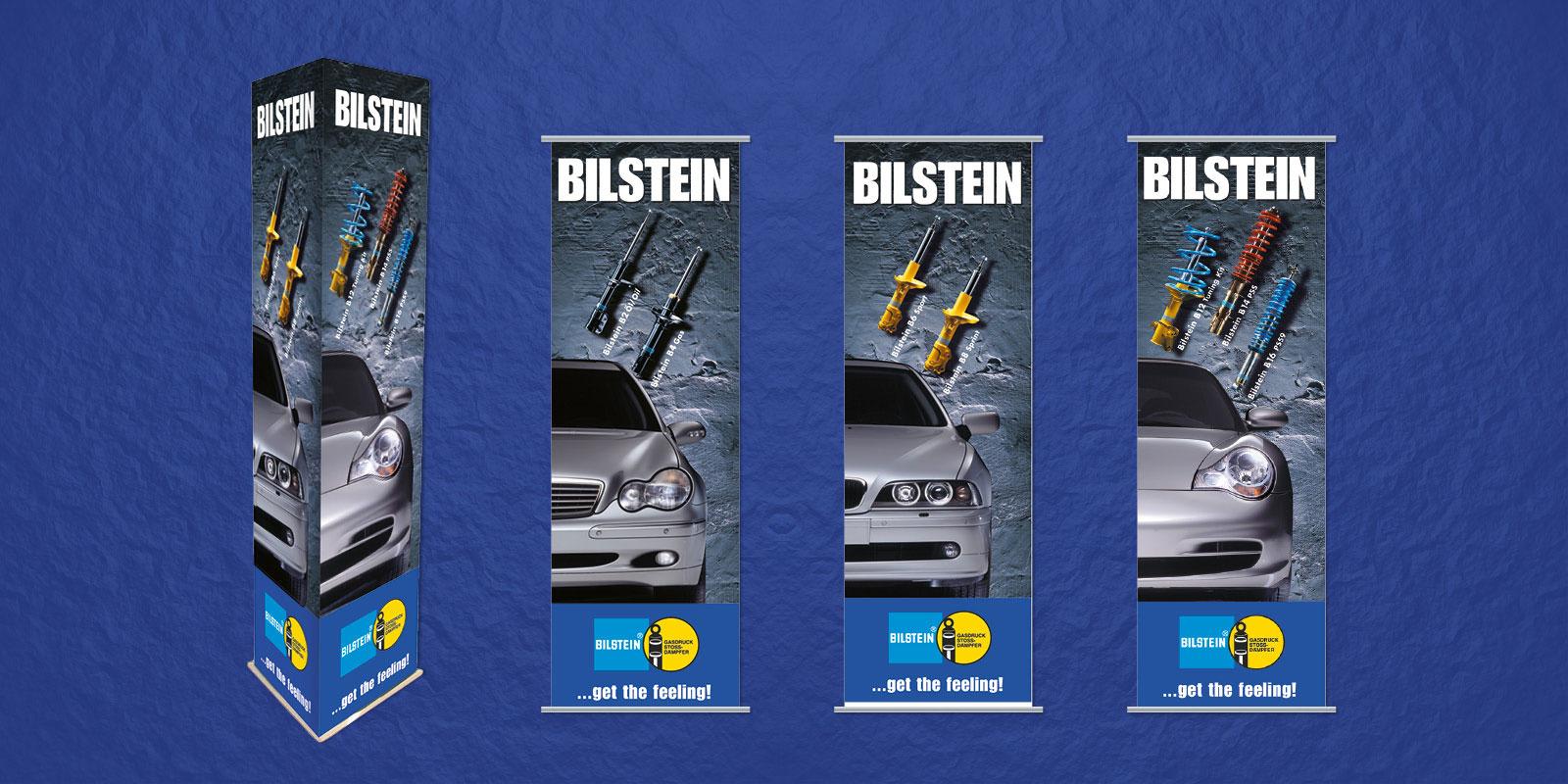 Bilstein – POS-Werbemittel (Aufsteller, Deckenhänger etc.)
