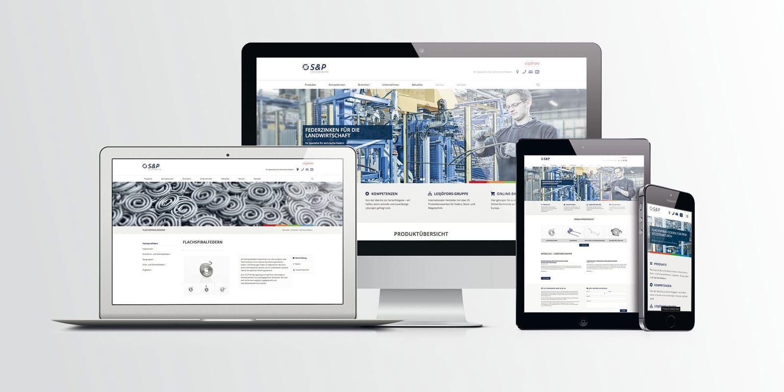 S & P Federnwerk – Corporate Website
