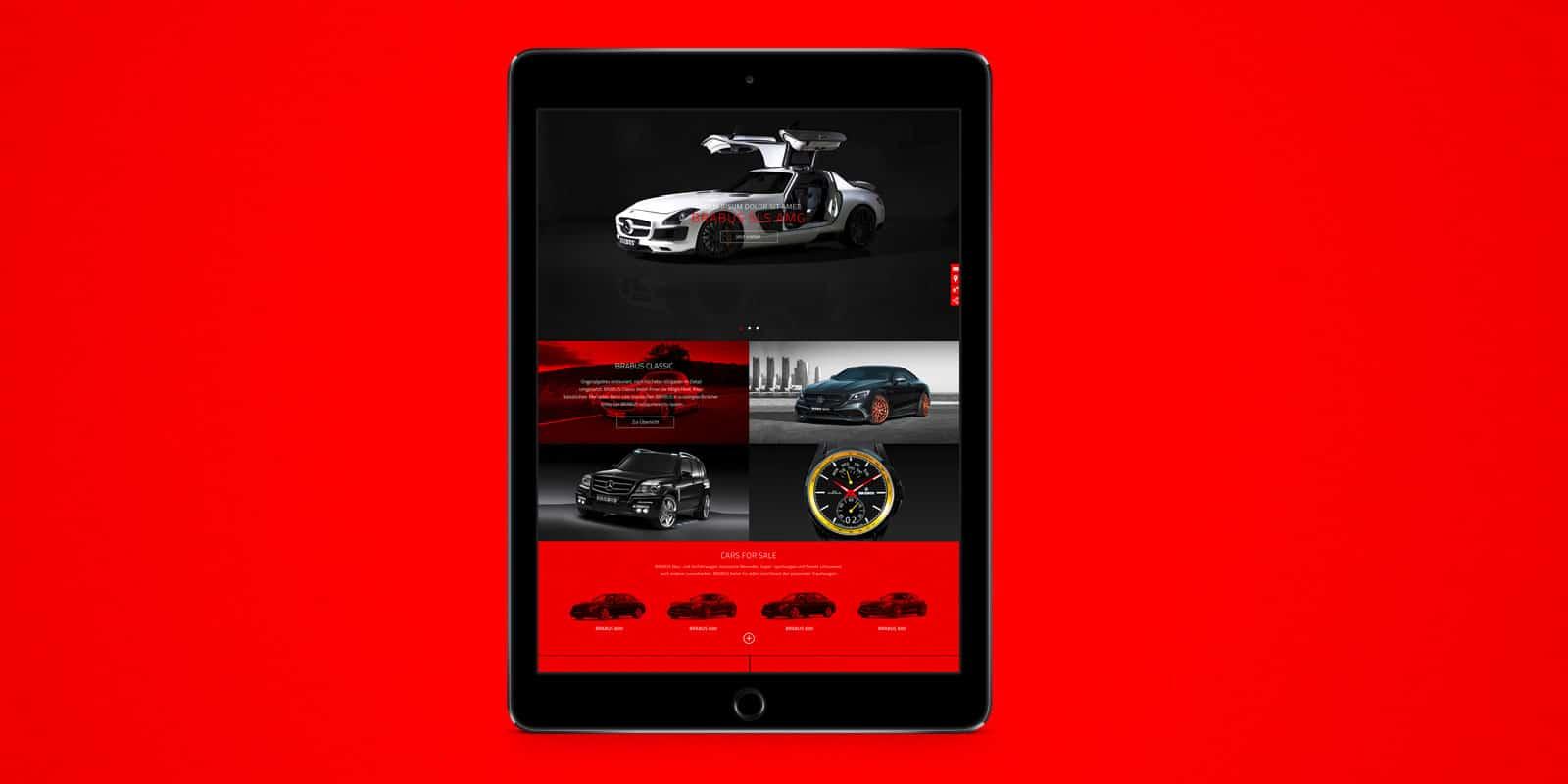 Brabus – Konzept Website