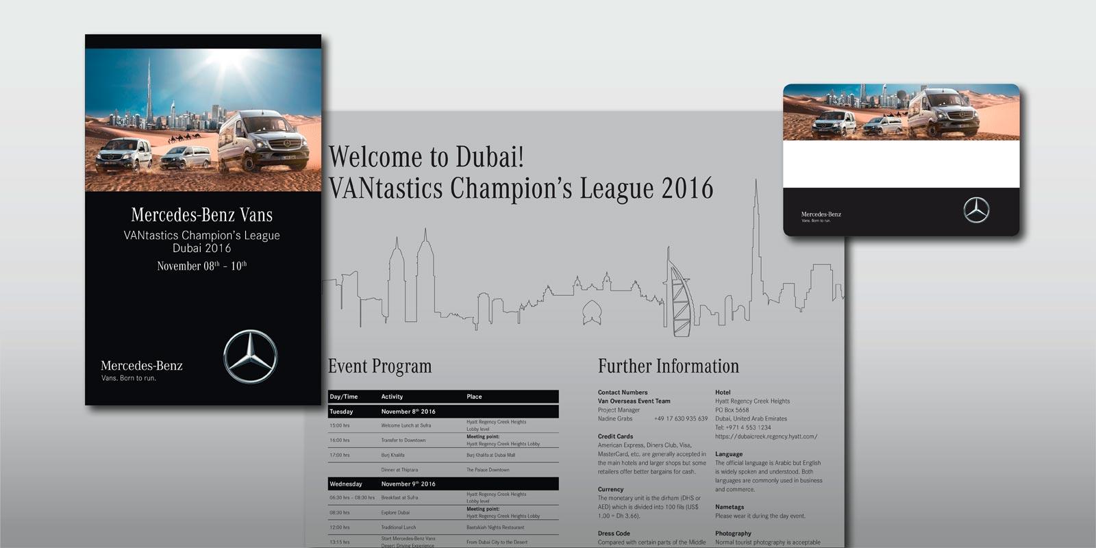 Mercedes Benz Vans – Mailing VIP-Event Dubai