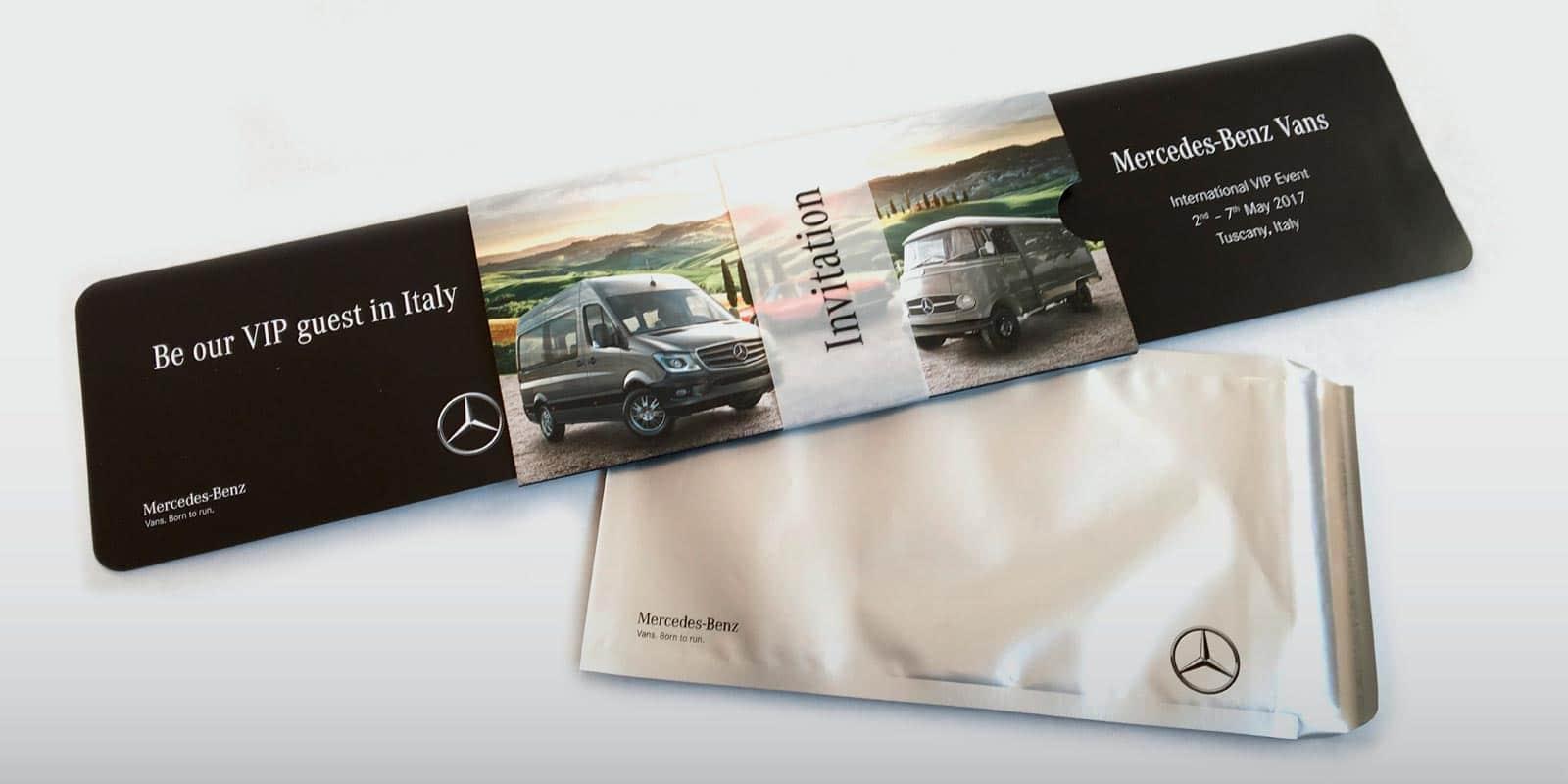 Mercedes Benz Vans – Einladung VIP-Event Italien