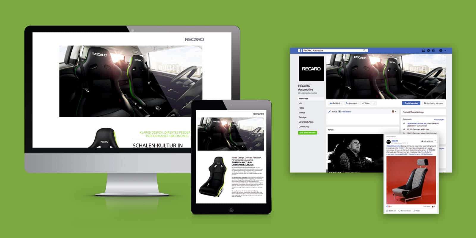RECARO Automotive Seating – Pole Position Edition 2018, Microsite & Facebook-Kampagne
