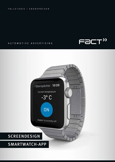 Fallstudie Eberspächer – Screendesign Smartwatch-App