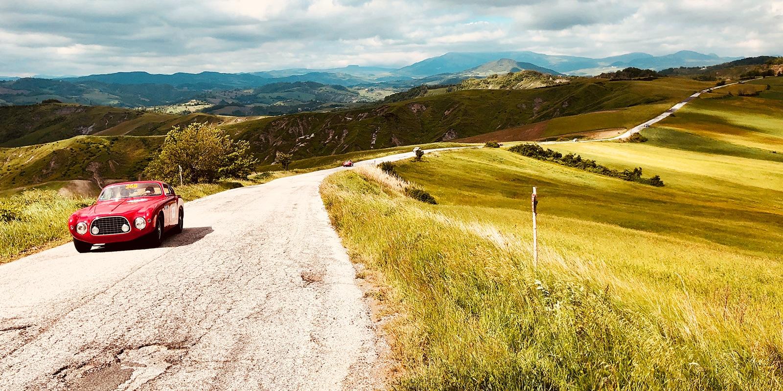 Mille Miglia 2019 Toscana-Hügel