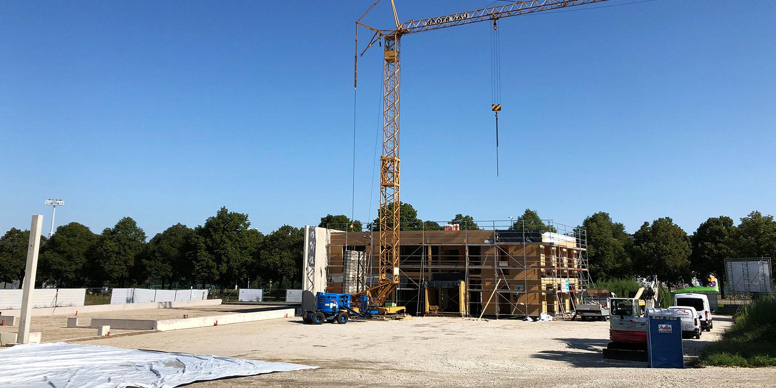 01. August 2019 | Das Gebäude nimmt Form an