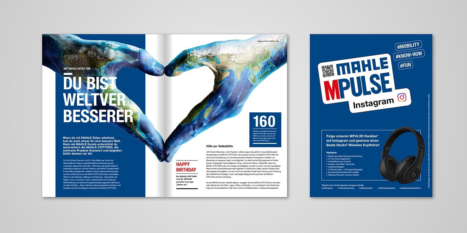 Mahle MPULSE-Magazin Innen- und Rückseite 02/2019