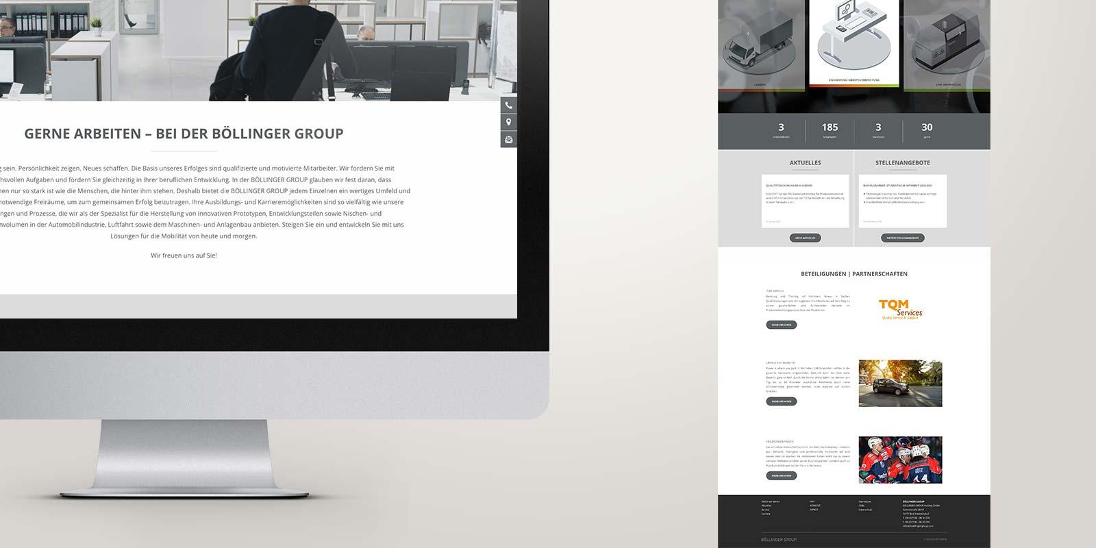 Böllinger Website Karriere