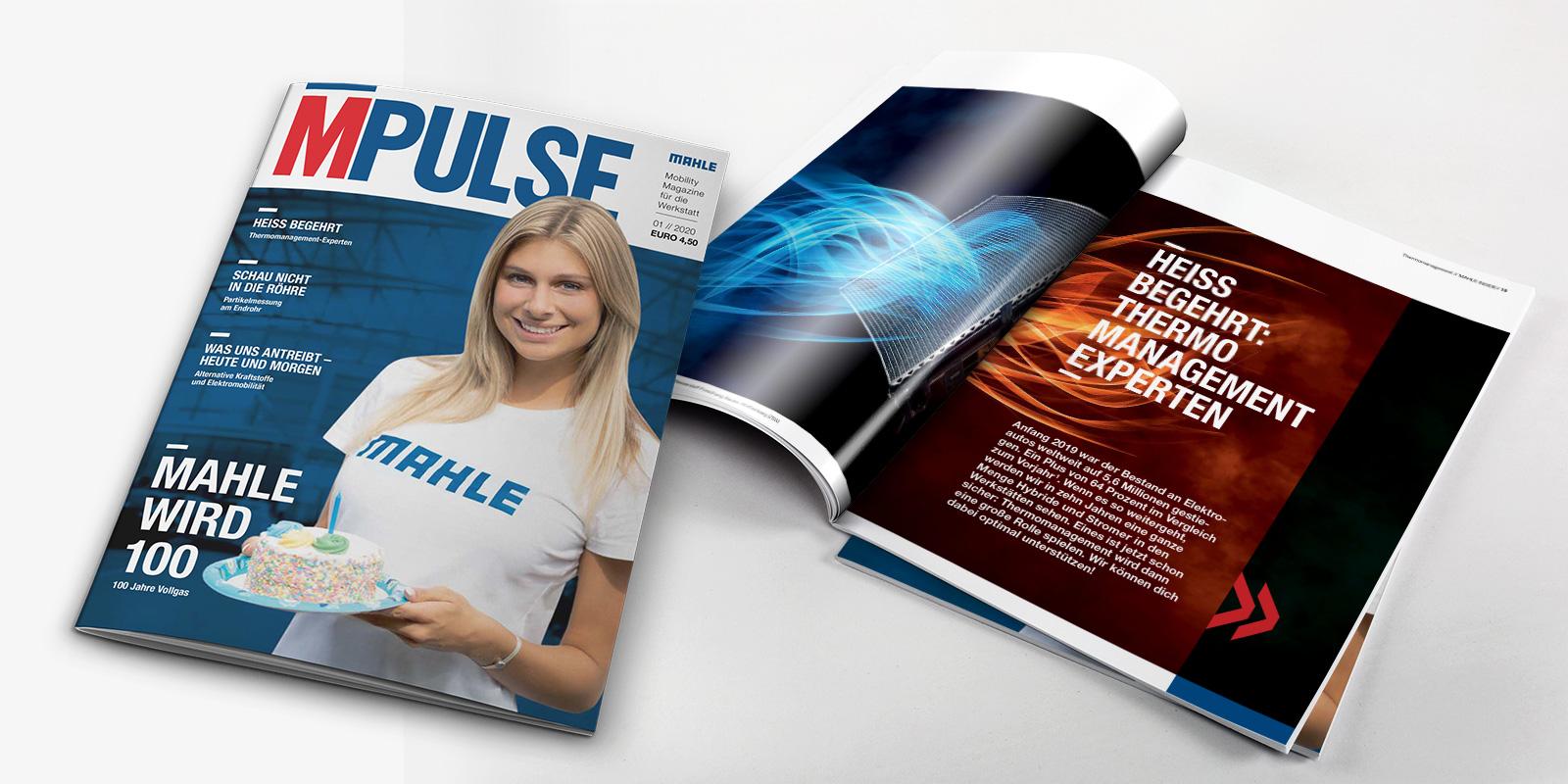 Mahle MPULSE-Magazin Titelseite 01/2020