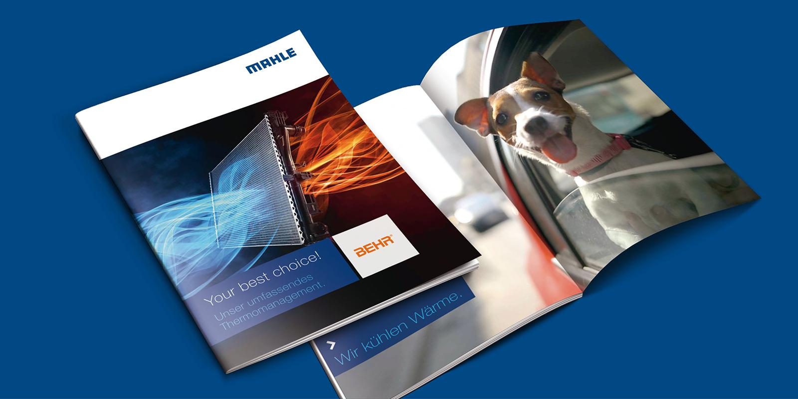 MAHLE Imagekampagne Broschüre