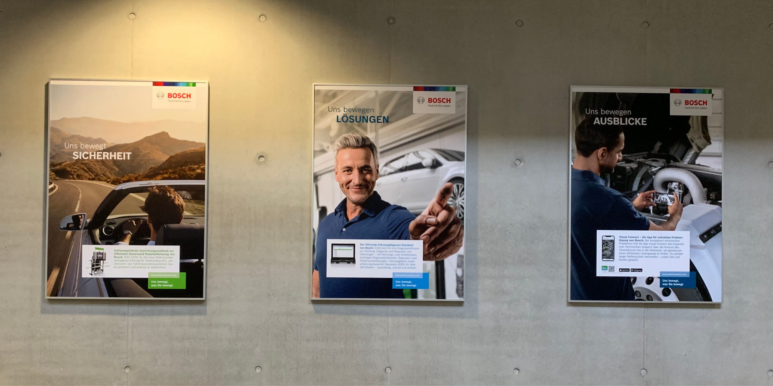 BOSCH Training Service Center Posterwand
