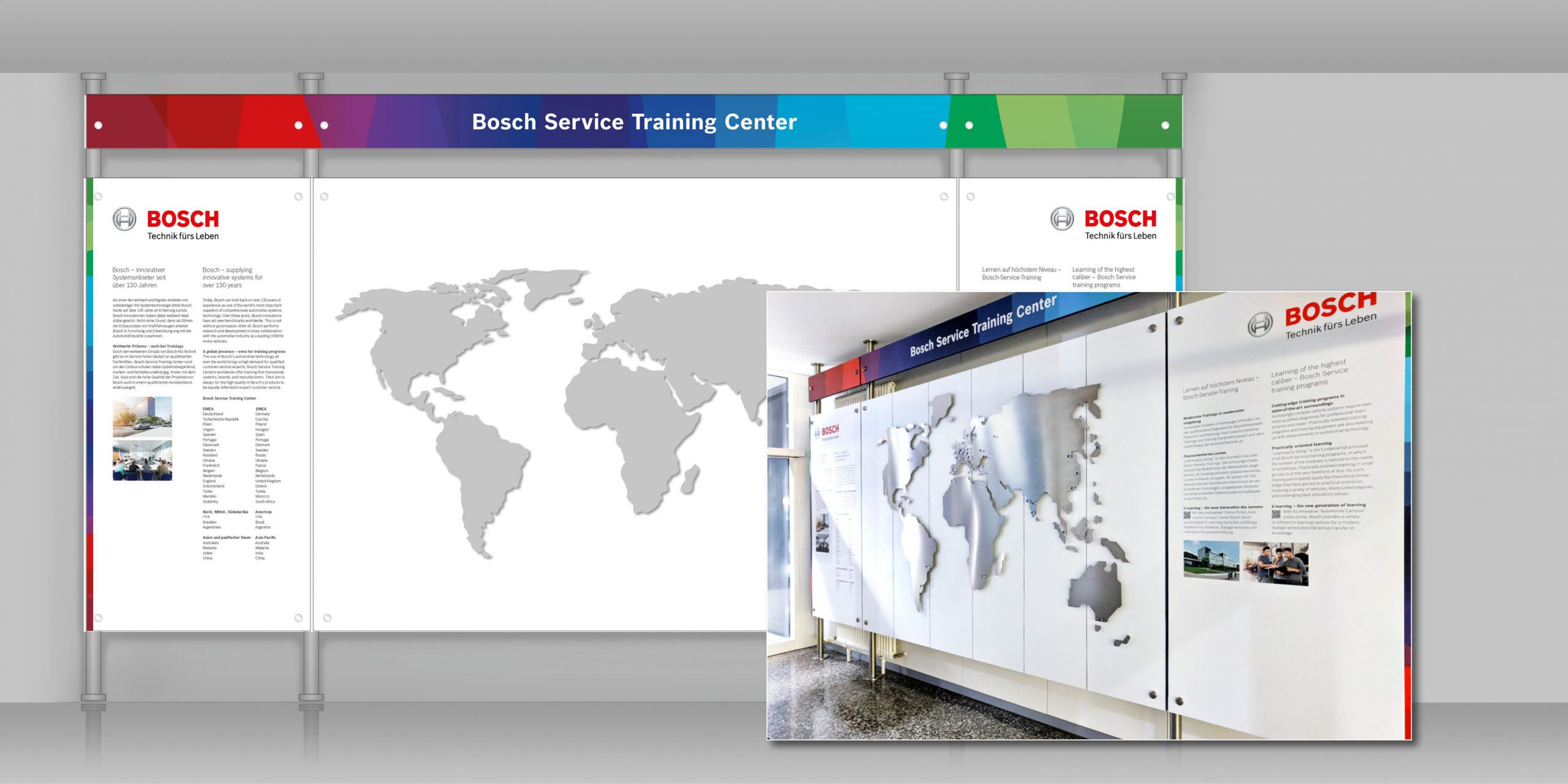 BOSCH Training Service Center – Stele im Windfang